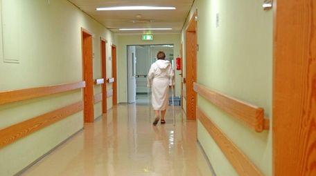 A hospital hallway.