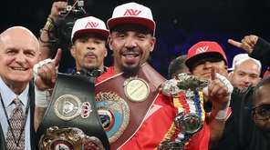 Andre Ward celebrates after his light heavyweight championship