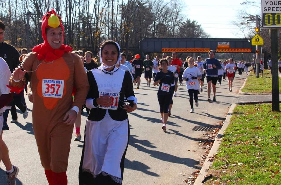 Some runners dress in costume as they participate