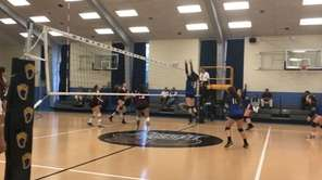 Whitman defeated Centereach in a non-league girls volleyball