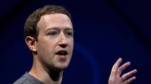 Facebook CEO Mark Zuckerberg in San Jose, California,