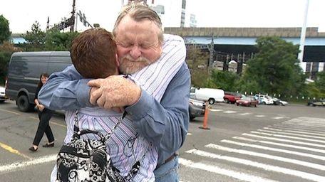 Susan Mote, 48, of Shirley, meets Bob Halstead,