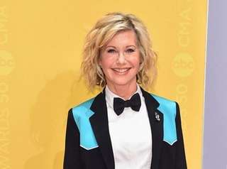 Olivia Newton-John at the CMA Awards in Nashville,