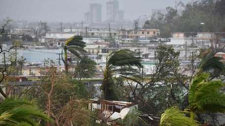 Destruction caused by Hurricane Maria close to Roberto