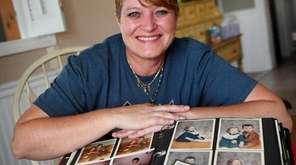 Susan Mote, 48, displays her baby photos at