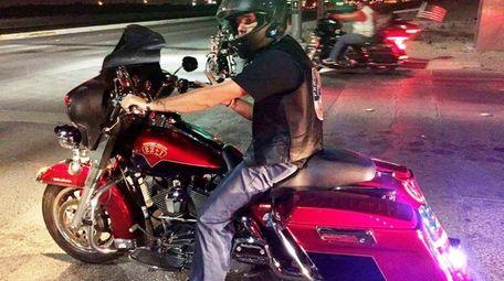 JR Matzner, 34, of Yuma, Arizona, is riding