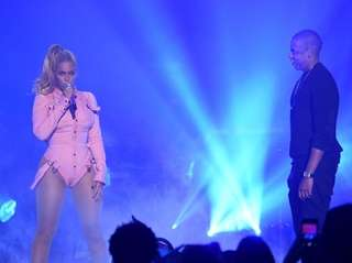 Beyoncé and Jay-Z at the first Tidal
