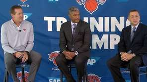 Knicks president Steve Mills said he expects Carmelo Anthony