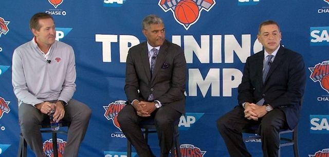 Knicks president Steve Mills said he expects CarmeloAnthony