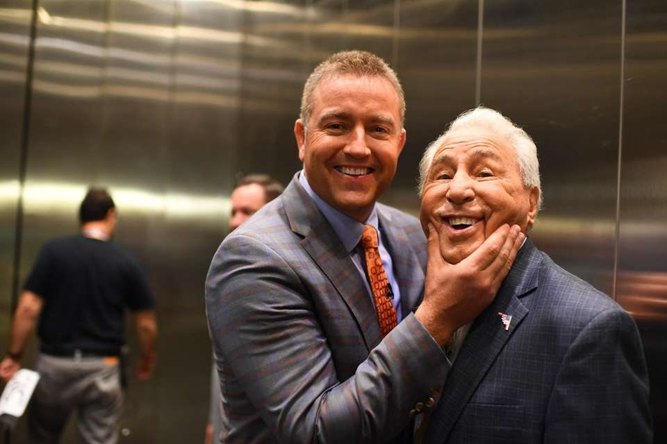 Kirk Herbstreit and Lee Corso at the New