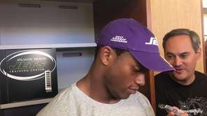 Jets linebacker Darron Lee answered questions from the