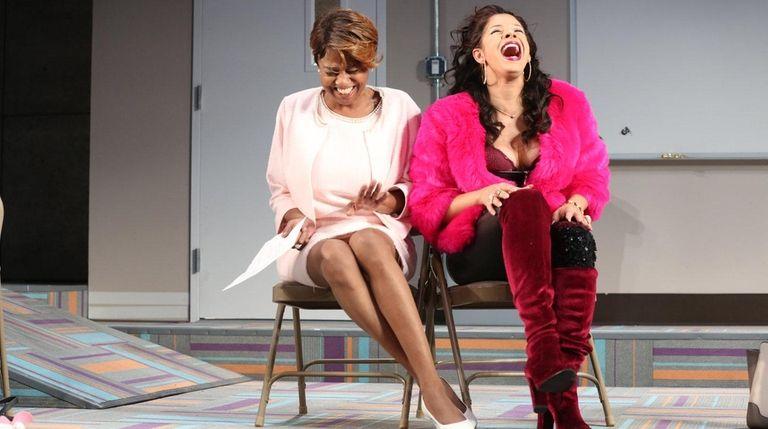Sandra Caldwell, left, and Hailie Sahar star in