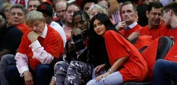 Houston rapper Travis Scott and Kylie Jenner watch