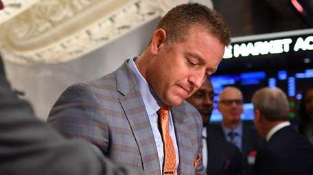 ESPN's Kirk Herbstreit at the NYSE on Friday,