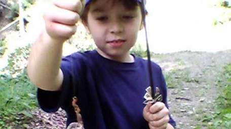 Kidsday reporter and fisherman Jack Ryan shows off