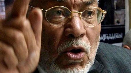 Mahdi Akef in 2009. The former Egyptian Muslim