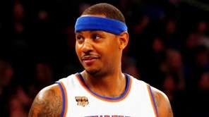Knicks forward Carmelo Anthony during a game at Madison