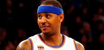 Knicks forward Carmelo Anthony during a gameat Madison