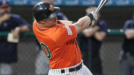 Ducks' Lew Ford hits an RBI double in Game 2