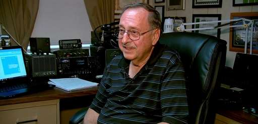 Ham radio operator Bob Myers, 74, of Copaigue,