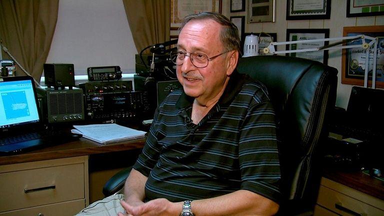 Ham radio operator Bob Myers, 74, of Copaigue,