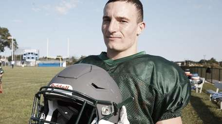 Westhampton's Dylan Laube at a scrimmage at Riverhead