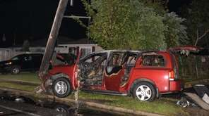 Suffolk County police said the crash occurred when