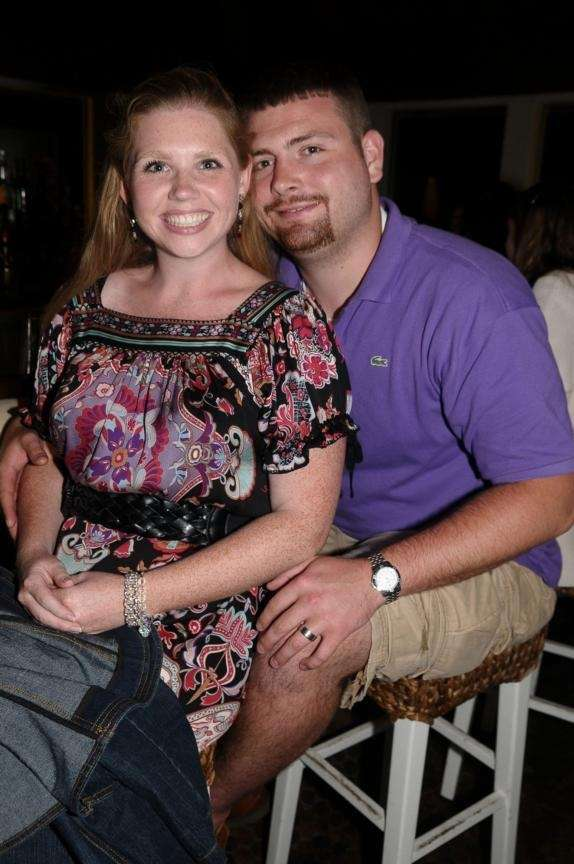 Montauk- September 5: (l-r)Katie Mitchell, Robert Peterson at