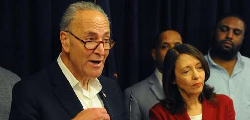 New York Sen. Chuck Schumer, joined by Sen.