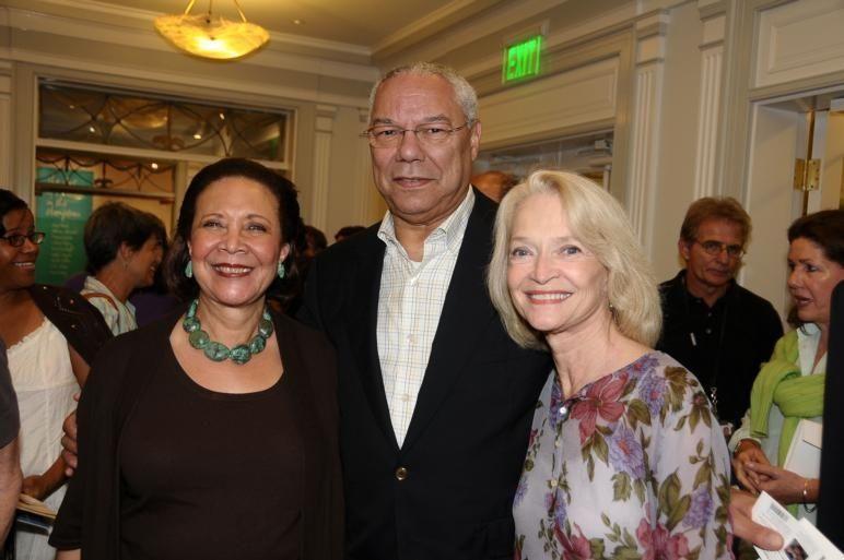 East Hampton-September 5:(l-r)Alma Powell, Colin Powell, and Ruth