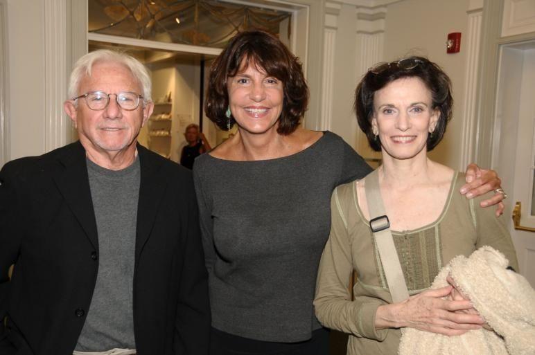 East Hampton-September 5:(l-r) Joe Pintauro, Mercedes Ruehl, and