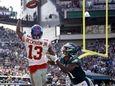 New York Giants' Odell Beckham catches a touchdown