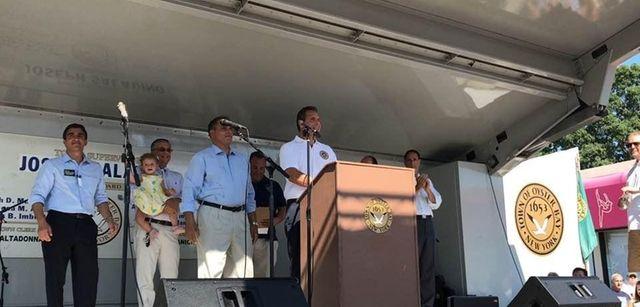 Gov. Andrew M. Cuomo speaks at the Columbus