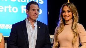 Gov. Andrew Cuomo and Jennifer Lopez speak at