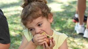 Luna Segal, 2, of East Setauket, at the