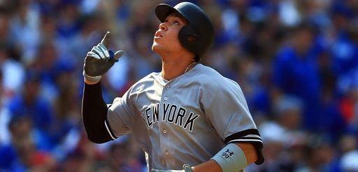 Aaron Judge of the New York Yankees celebrates