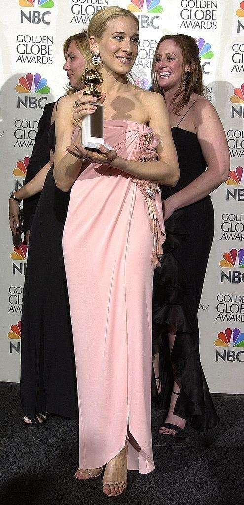 Sarah Jessica Parker backstage at the Golden Globe