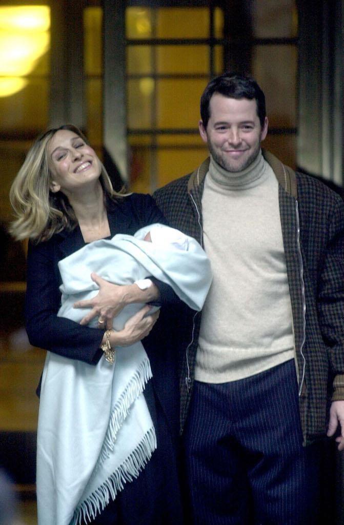 Sarah Jessica Parker, Matthew Broderick and their newborn