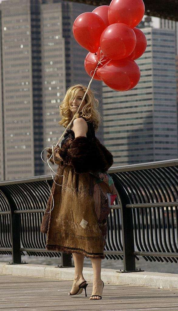 Sarah Jessica Parker shoots a promotional video for