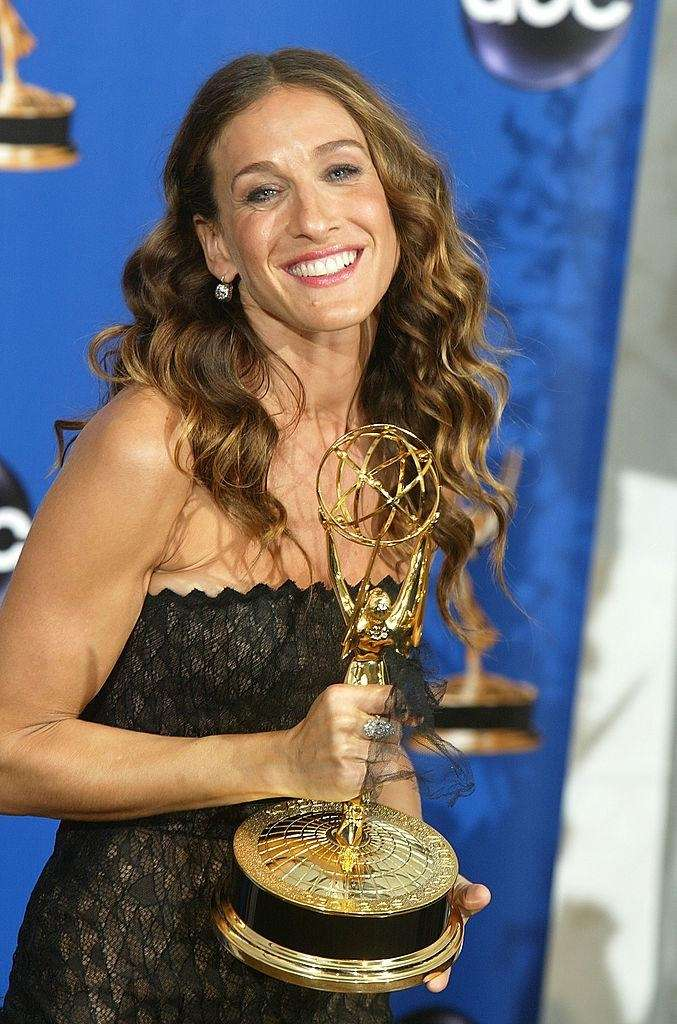 Sarah Jessica Parker with her Emmy Award for
