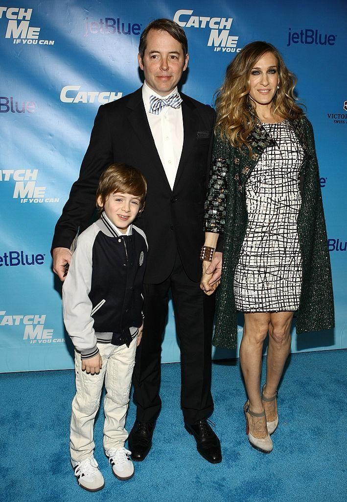 Matthew Broderick, Sarah Jessica Parker and their son,