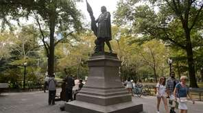 A Christopher Columbus statue in Manhattan's Central Park