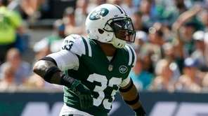 Jets rookie safety Jamal Adams reacts after a