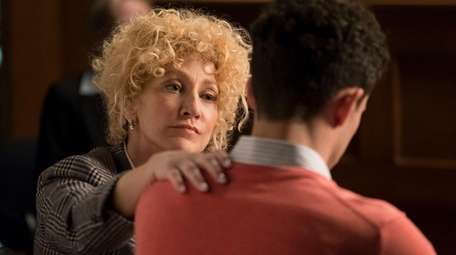 Edie Falco as attorney Leslie Abramson in