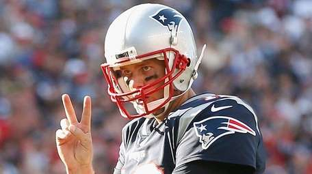 Tom Brady of the New England Patriots reacts