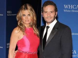 Syosset native Idina Menzel and Aaron Lohr, seen