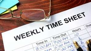 Time sheet: Hourly workers must be paid for