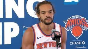 From Knicks Media Day in Greenburgh on Monday,