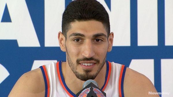 On Monday, Sept. 25, 2017, new Knicks Enes