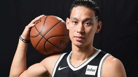Jeremy Lin of the Brooklyn Nets poses for